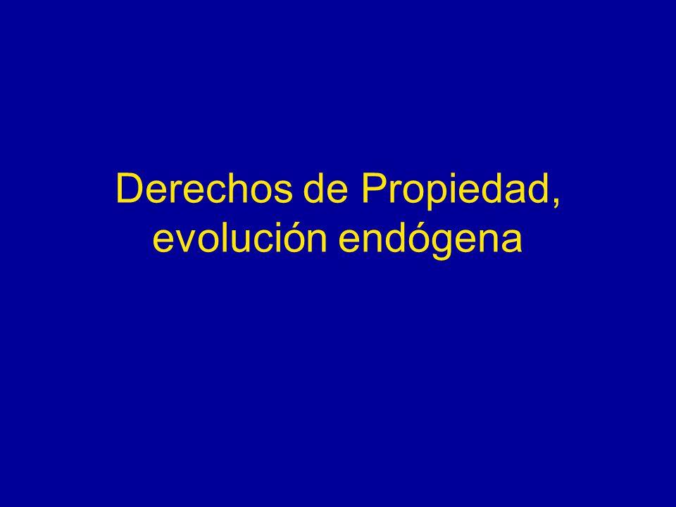 Derechos de Propiedad, evolución endógena