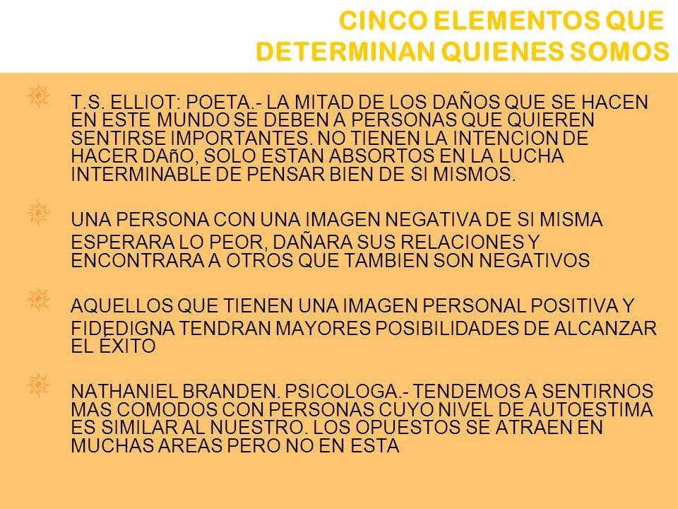 2. IMAGEN PERSONAL T.S. ELLIOT: POETA.- LA MITAD DE LOS DAÑOS QUE SE HACEN EN ESTE MUNDO SE DEBEN A PERSONAS QUE QUIEREN SENTIRSE IMPORTANTES. NO TIEN