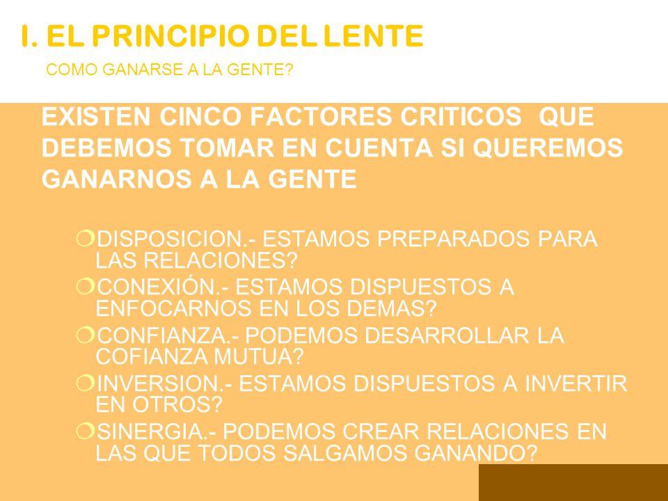 PARA DAR RESPUESTA FIRMATIVA A ESTAS PREGUNTAS DEBEMOS APLICAR ALGUNOS PRINCIPIOS DE INTERACCION I.