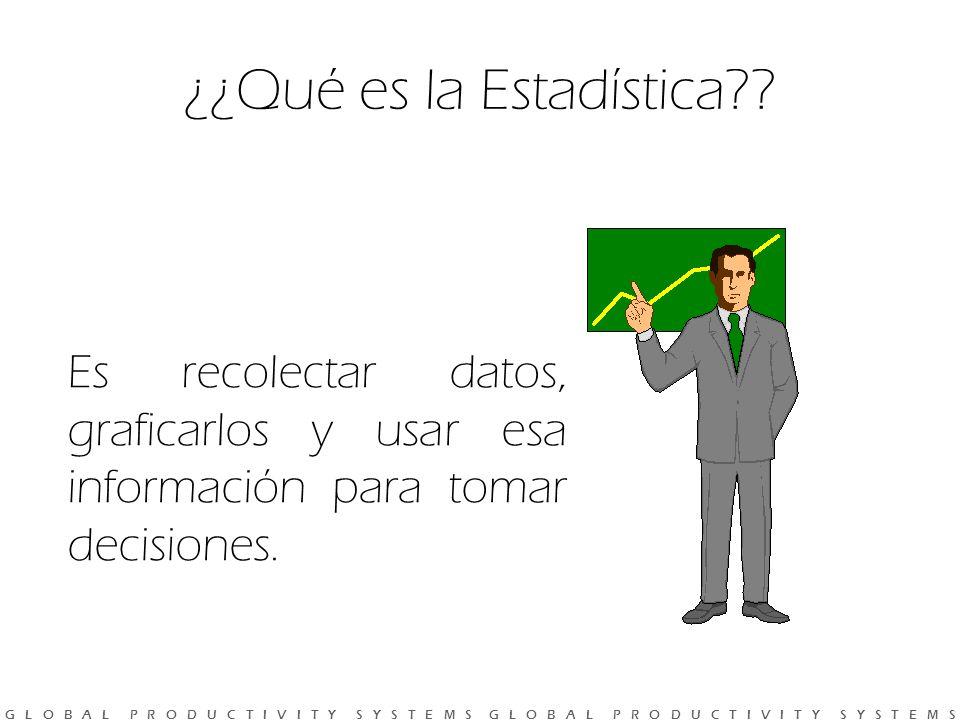 G L O B A L P R O D U C T I V I T Y S Y S T E M S G L O B A L P R O D U C T I V I T Y S Y S T E M S ¿¿Qué es la Estadística?.