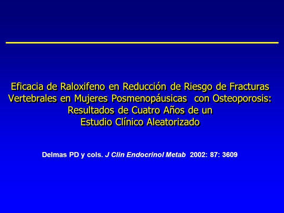 Eficacia de Raloxifeno en Reducción de Riesgo de Fracturas Vertebrales en Mujeres Posmenopáusicas con Osteoporosis: Resultados de Cuatro Años de un Es