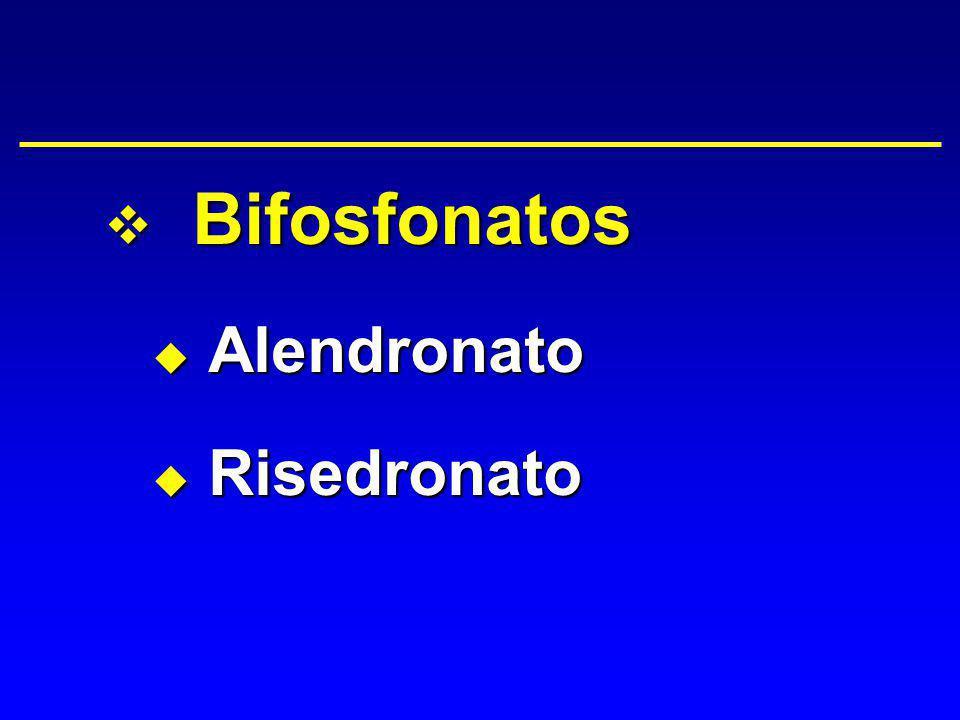 v Bifosfonatos u Alendronato u Risedronato
