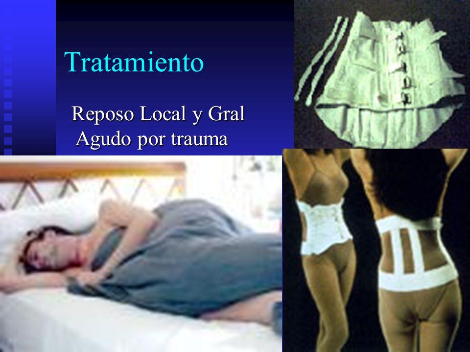 Tratamiento Reposo Local y Gral Agudo por trauma Agudo por trauma