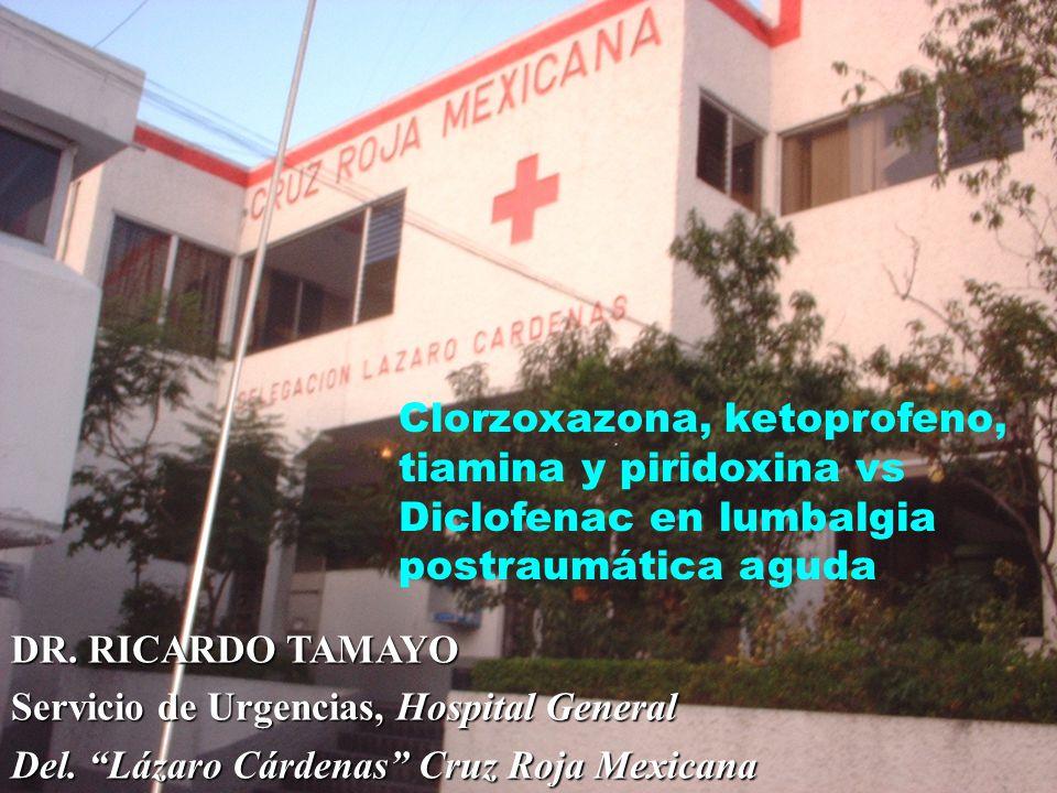 DR.RICARDO TAMAYO Servicio de Urgencias, Hospital General Del.
