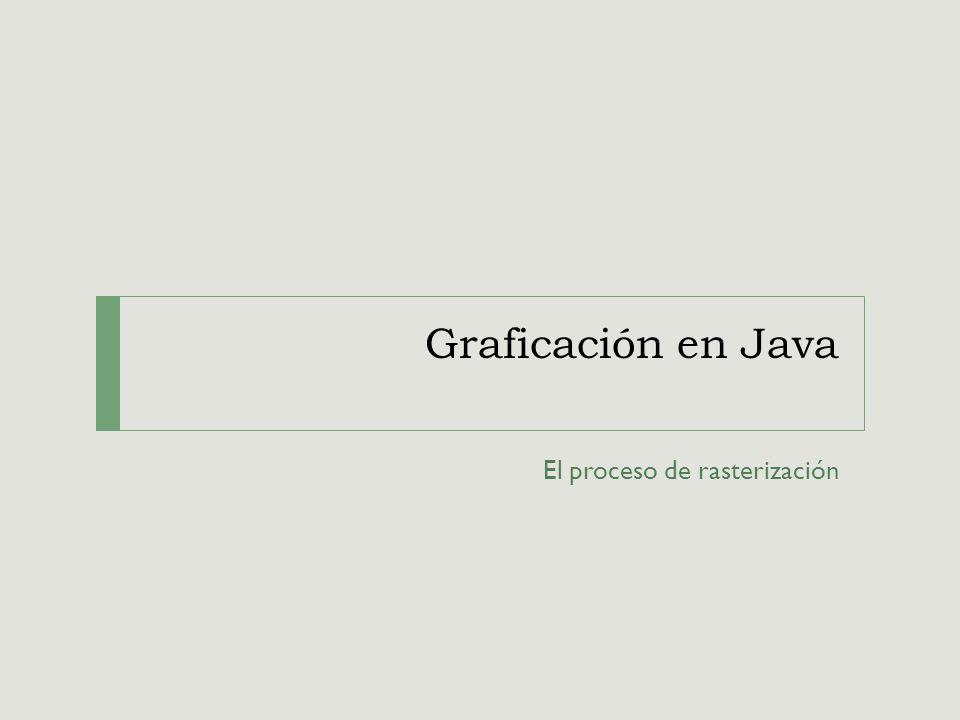 Graficación en Java El proceso de rasterización