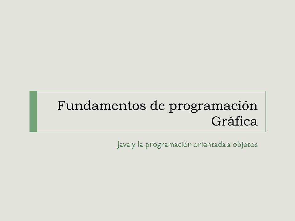 Fundamentos de programación Gráfica Java y la programación orientada a objetos