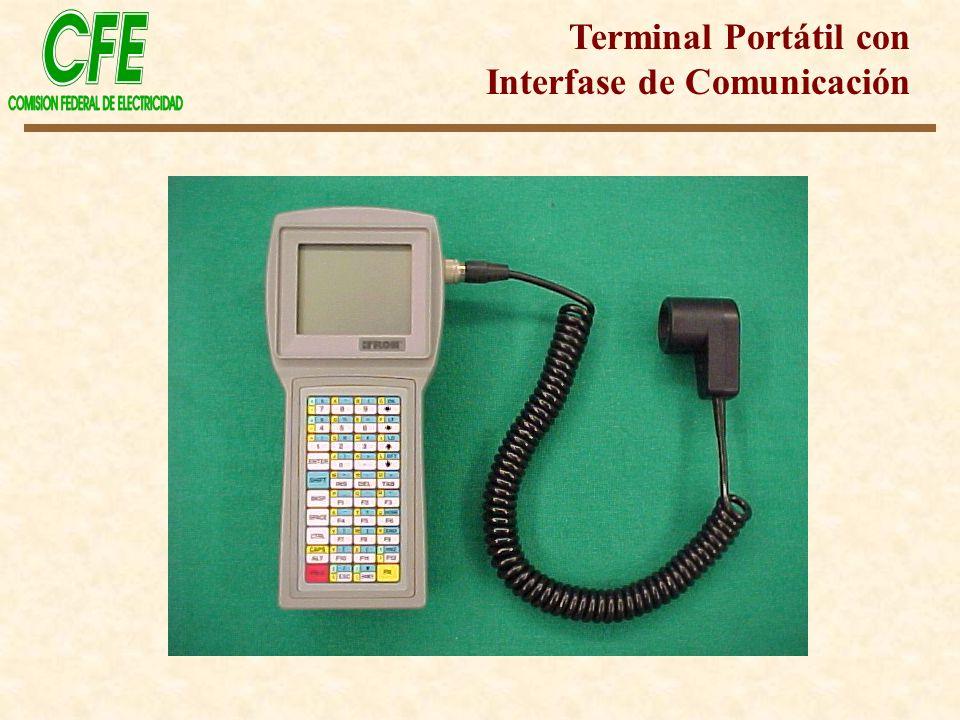 Terminal Portátil con Interfase de Comunicación