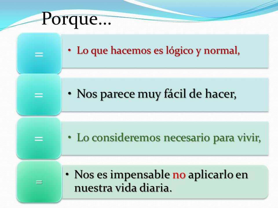 Lo que hacemos es lógico y normal,Lo que hacemos es lógico y normal, = Nos parece muy fácil de hacer,Nos parece muy fácil de hacer, = Lo consideremos