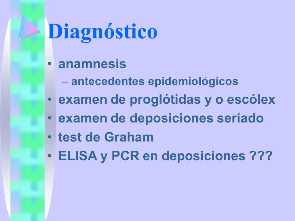 Terapia Antiparasitarios –Niclosamida oral, no se absorbe inhibe la fosforilación oxidativa mitocondrial del parásito –Praziquantel oral, buena absorción aumenta la permeabilidad de calcio del parásito, lo que le produce una contracción generalizada