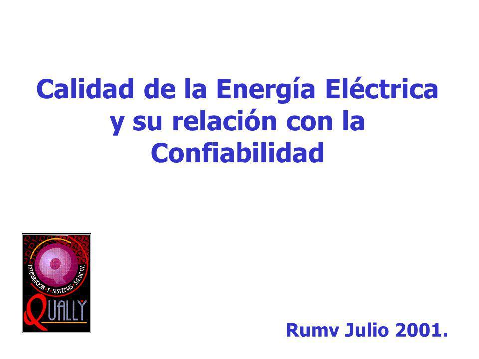Calidad de la Energía Eléctrica y su relación con la Confiabilidad Rumv Julio 2001.
