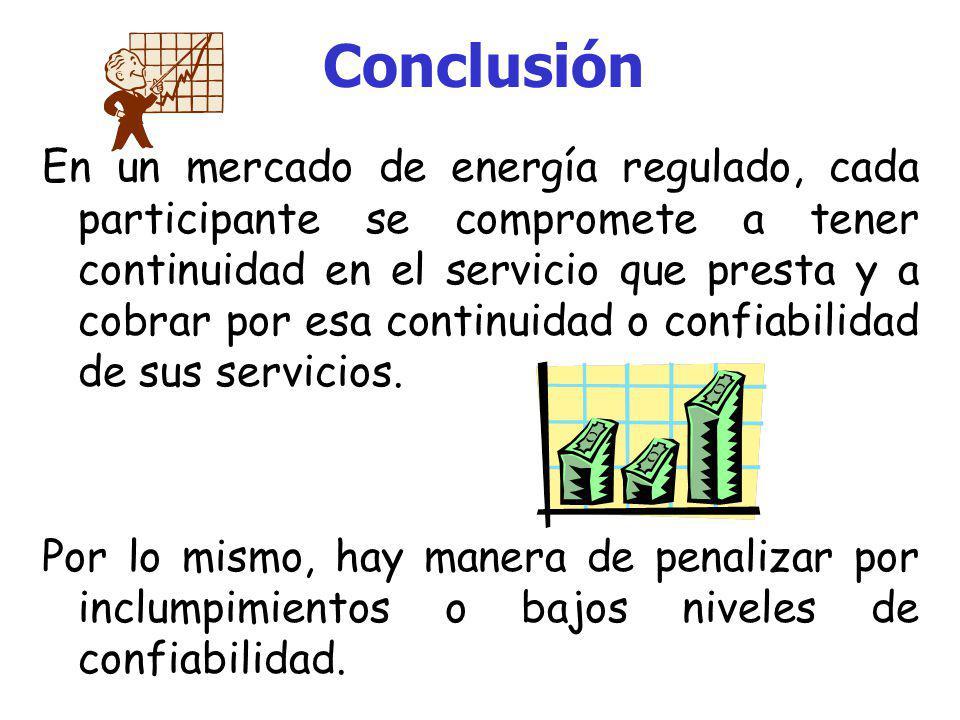 Conclusión Es necesaria la oportuna atención a los problemas de calidad de la energía eléctrica. De esto depende el aumento en la confiabilidad del si