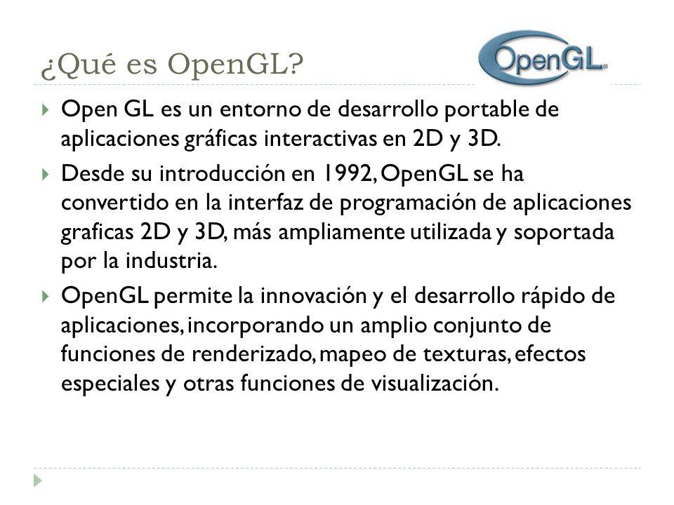 ¿Qué es OpenGL.
