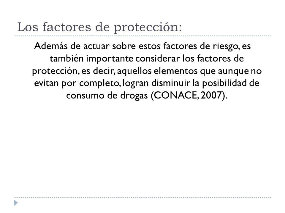 Además de actuar sobre estos factores de riesgo, es también importante considerar los factores de protección, es decir, aquellos elementos que aunque