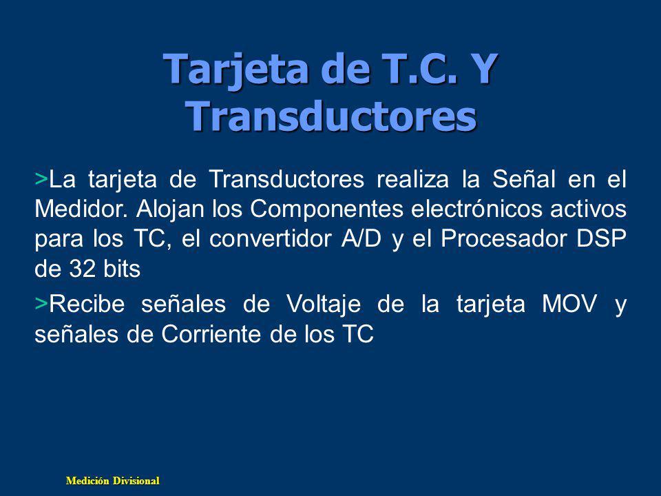 Medición Divisional Tarjeta de T.C.