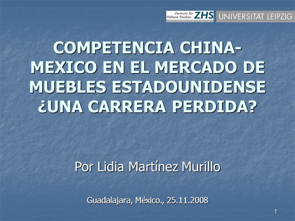 1 COMPETENCIA CHINA- MEXICO EN EL MERCADO DE MUEBLES ESTADOUNIDENSE ¿UNA CARRERA PERDIDA.