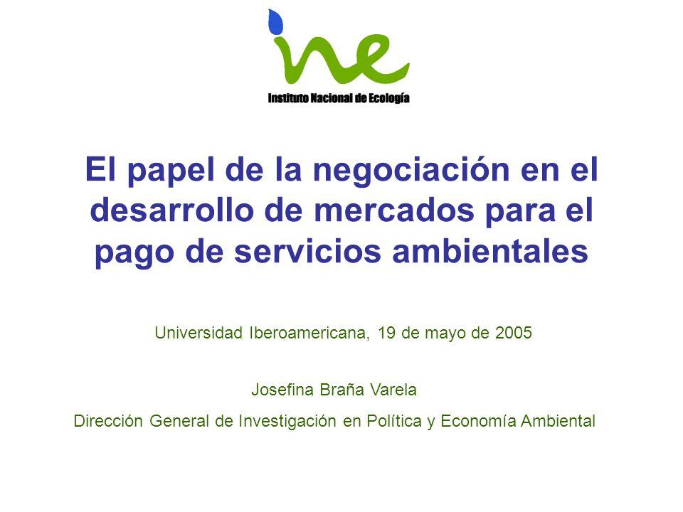 Antecedentes El tema de los servicios ambientales ha estado en la agenda de los países desde hace décadas; sin embargo, en México es hasta la década de los 90 que el tema empieza a tomar un sentido más real.