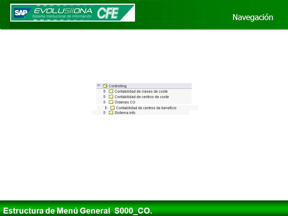Navegación Estructura de Menú General S000_CO.