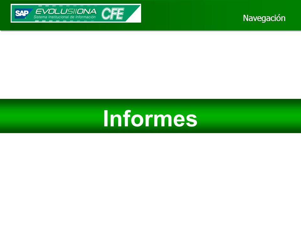Navegación Informes