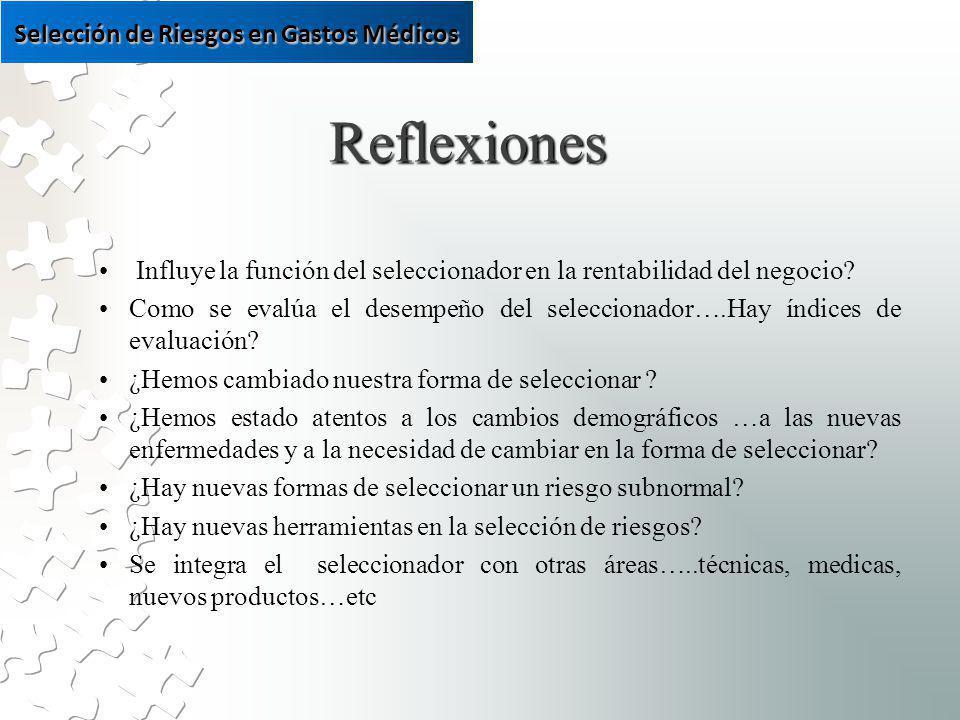 Reflexiones Influye la función del seleccionador en la rentabilidad del negocio.