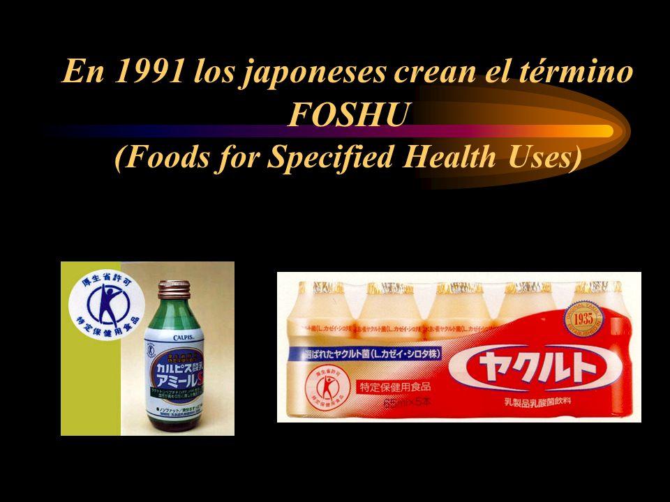 En 1991 los japoneses crean el término FOSHU (Foods for Specified Health Uses)