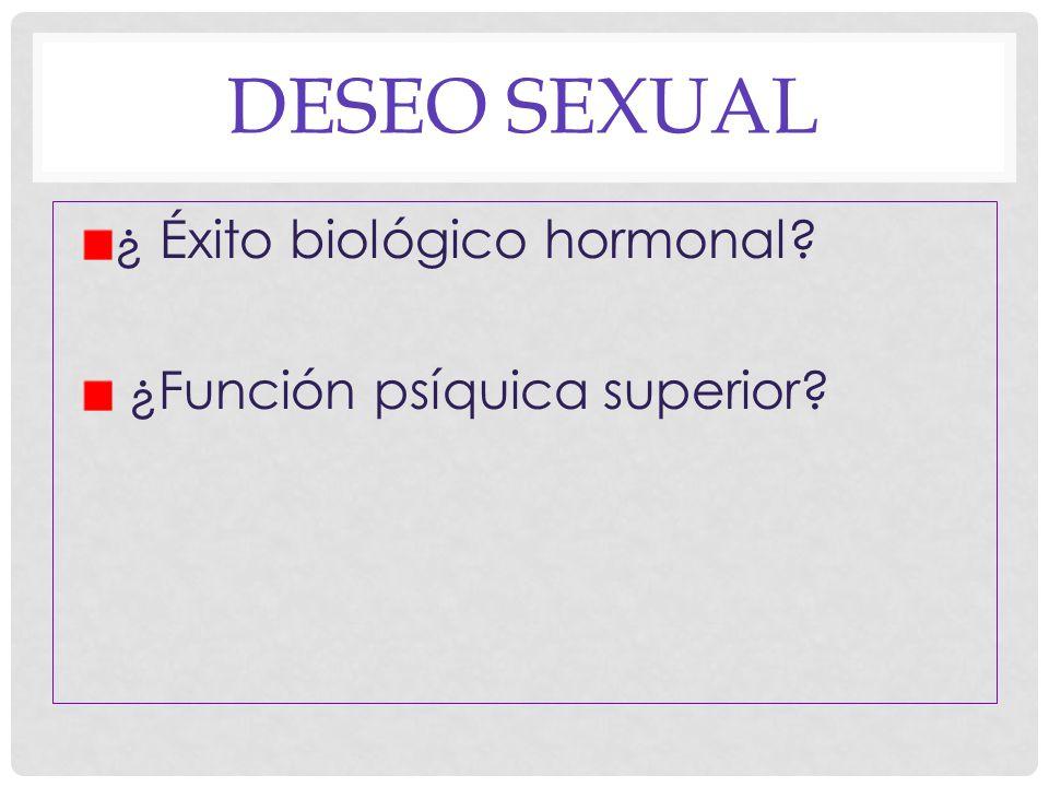 DESEO SEXUAL Placer Instinto Interes Excitación Motivación Querer Exigencia Libido Expectativas