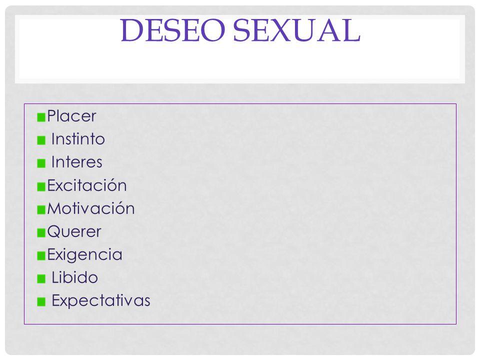 EL DESEO El resultante de todas las fuerzas que empujan al acto sexual y que de ello nos aleja Levine 2003