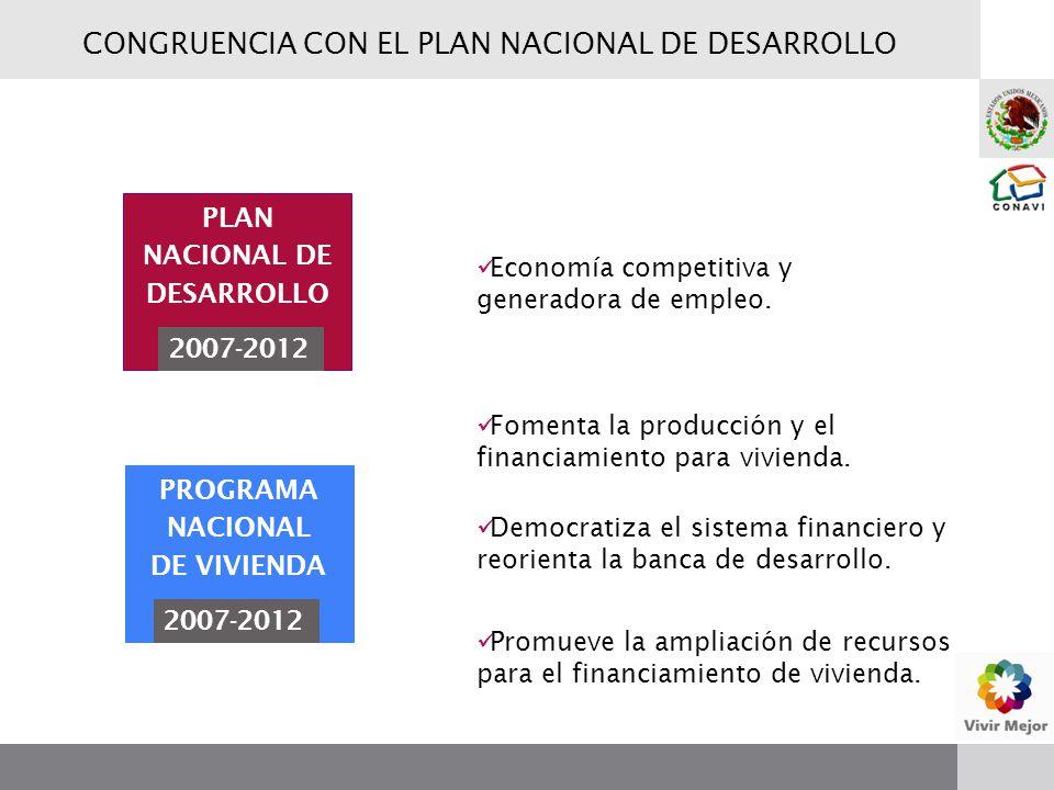 Fomenta la producción y el financiamiento para vivienda. Democratiza el sistema financiero y reorienta la banca de desarrollo. Promueve la ampliación