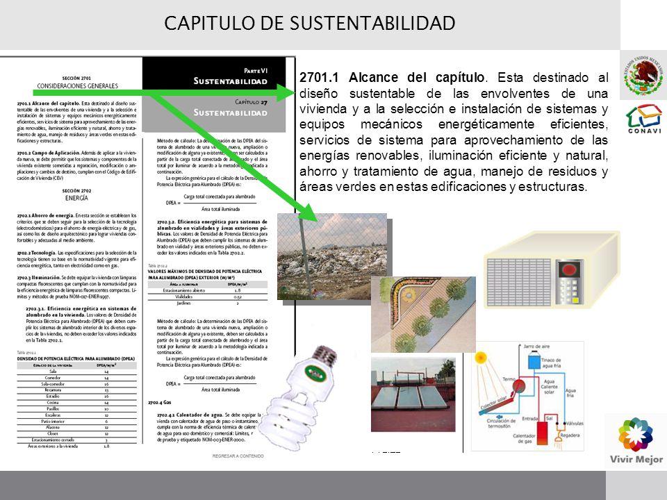 CAPITULO DE SUSTENTABILIDAD 2701.1 Alcance del capítulo.