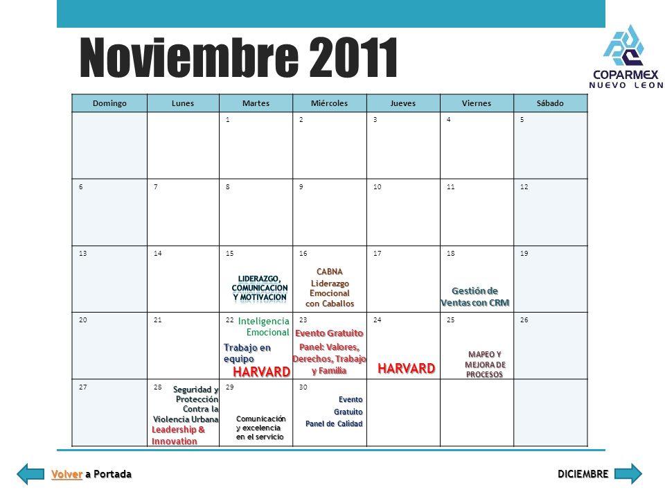 Noviembre 2011 DomingoLunesMartesMiércolesJuevesViernesSábado 12345 6789101112 13141516171819 202223242526 27282930 Volver a Portada Volver a Portada