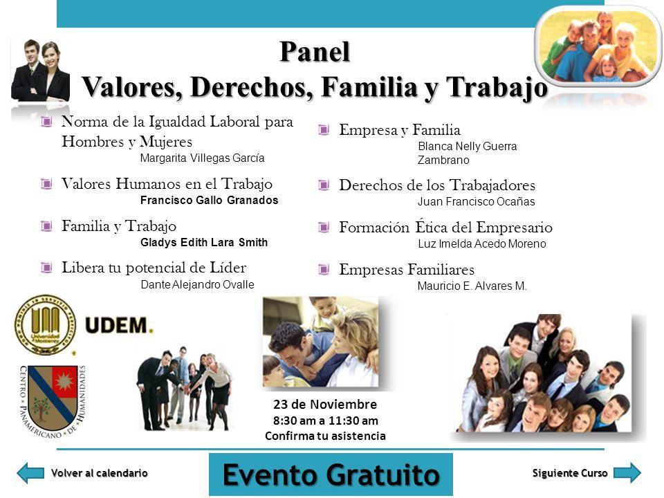 Norma de la Igualdad Laboral para Hombres y Mujeres Margarita Villegas García Valores Humanos en el Trabajo Francisco Gallo Granados Familia y Trabajo