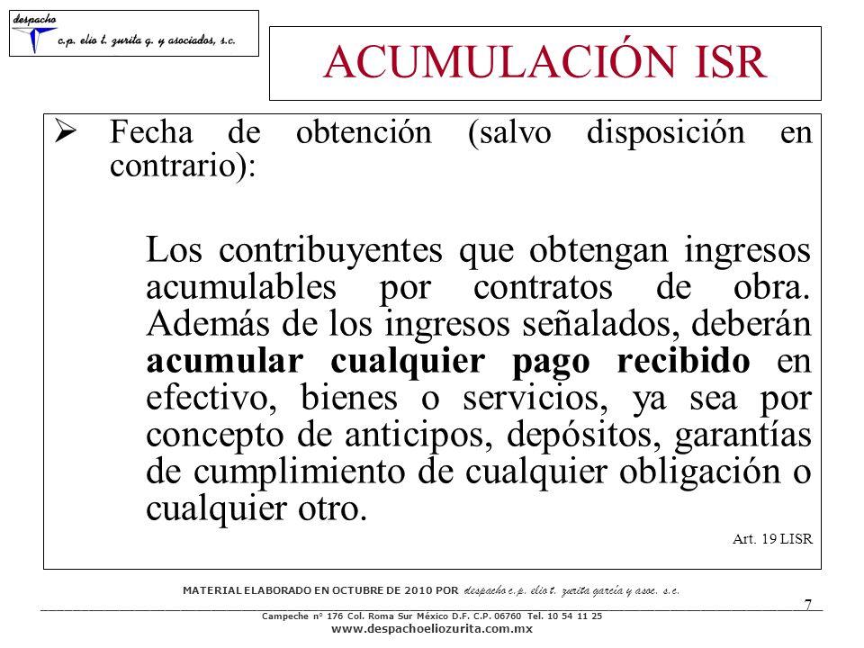 MATERIAL ELABORADO EN OCTUBRE DE 2010 POR despacho c.p.
