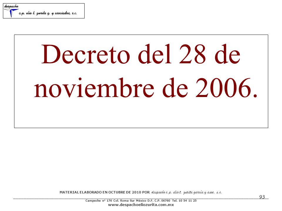MATERIAL ELABORADO EN OCTUBRE DE 2010 POR despacho c.p. elio t. zurita garcía y asoc. s.c. ___________________________________________________________