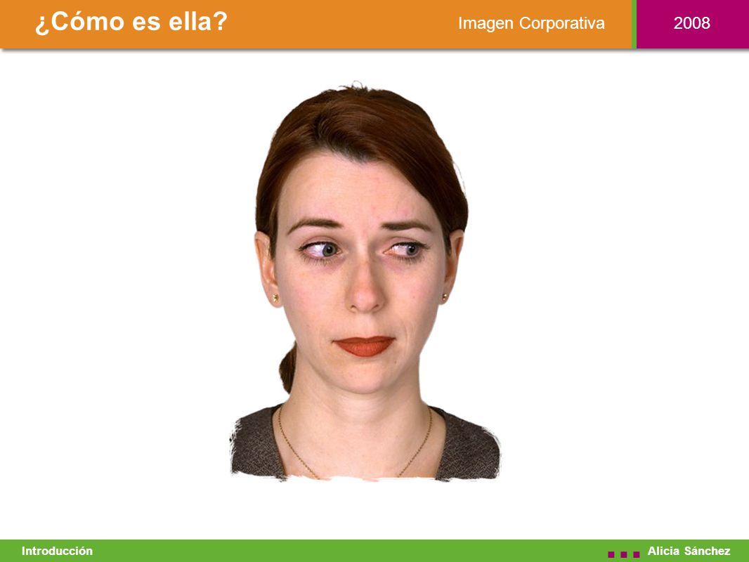 Imagen Corporativa ¿Cómo es ella Alicia Sánchez... Introducción 2008