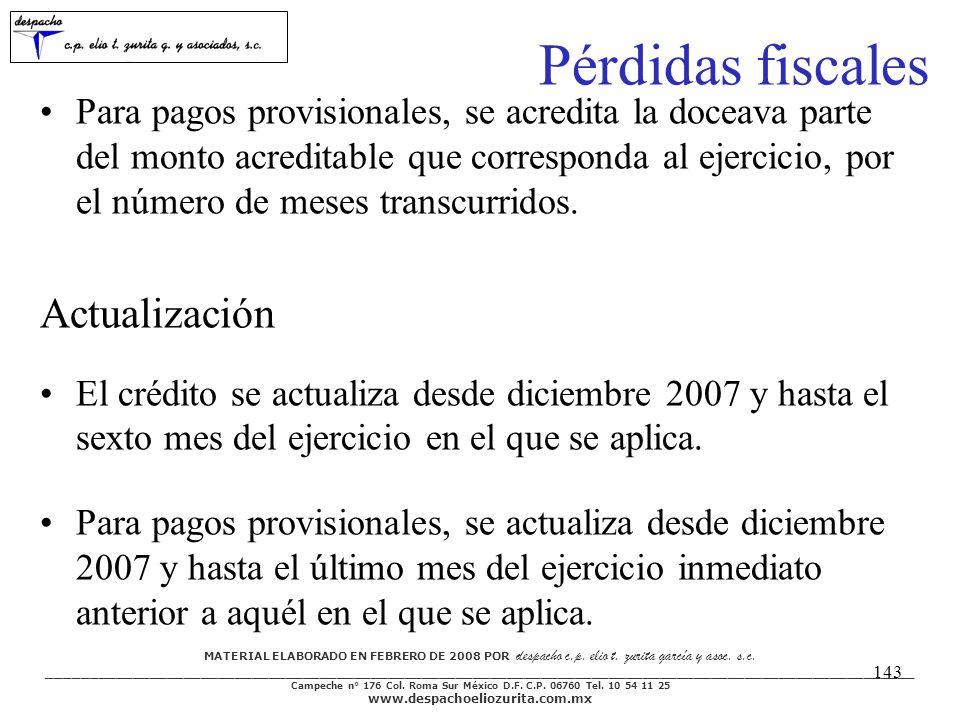 MATERIAL ELABORADO EN FEBRERO DE 2008 POR despacho c.p. elio t. zurita garcía y asoc. s.c. ___________________________________________________________