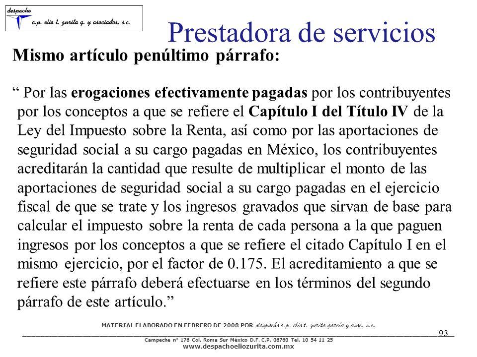 MATERIAL ELABORADO EN FEBRERO DE 2008 POR despacho c.p.