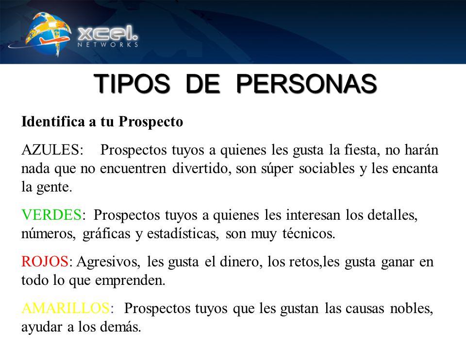 Identifica a tu Prospecto AZULES: Prospectos tuyos a quienes les gusta la fiesta, no harán nada que no encuentren divertido, son súper sociables y les