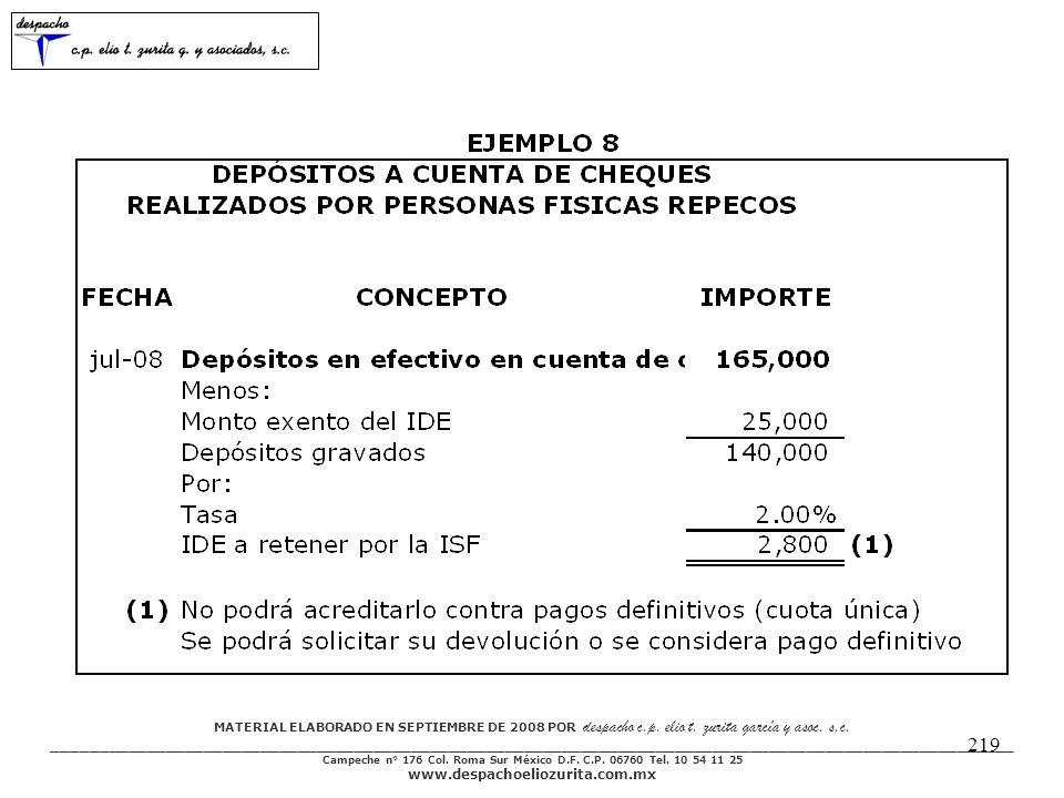 MATERIAL ELABORADO EN SEPTIEMBRE DE 2008 POR despacho c.p.