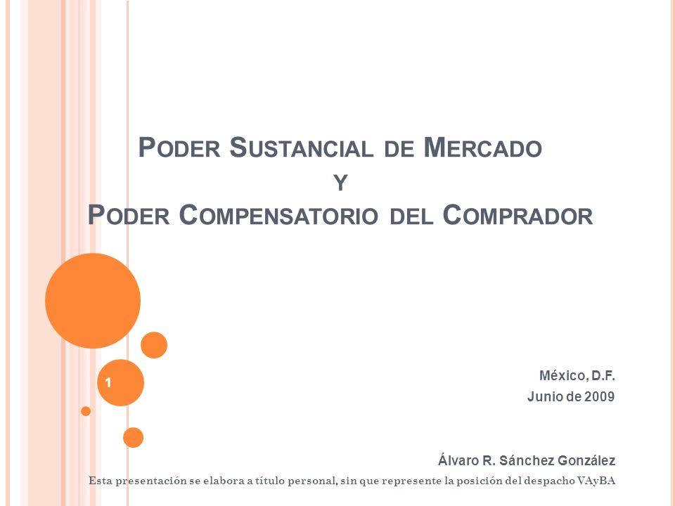 P ODER S USTANCIAL DE M ERCADO Y P ODER C OMPENSATORIO DEL C OMPRADOR México, D.F.