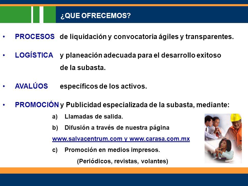 PROCESOS de liquidación y convocatoria ágiles y transparentes.