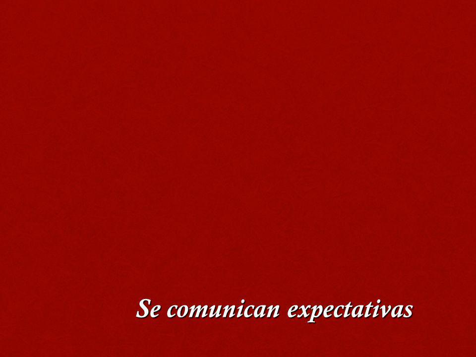 Se comunican expectativas