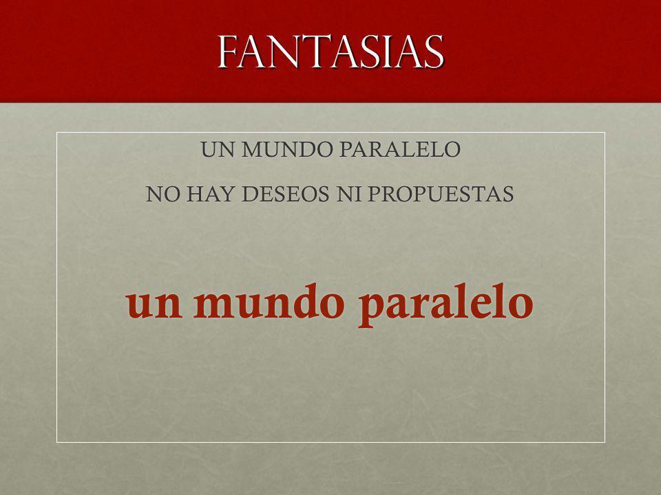 fantasias UN MUNDO PARALELO NO HAY DESEOS NI PROPUESTAS un mundo paralelo