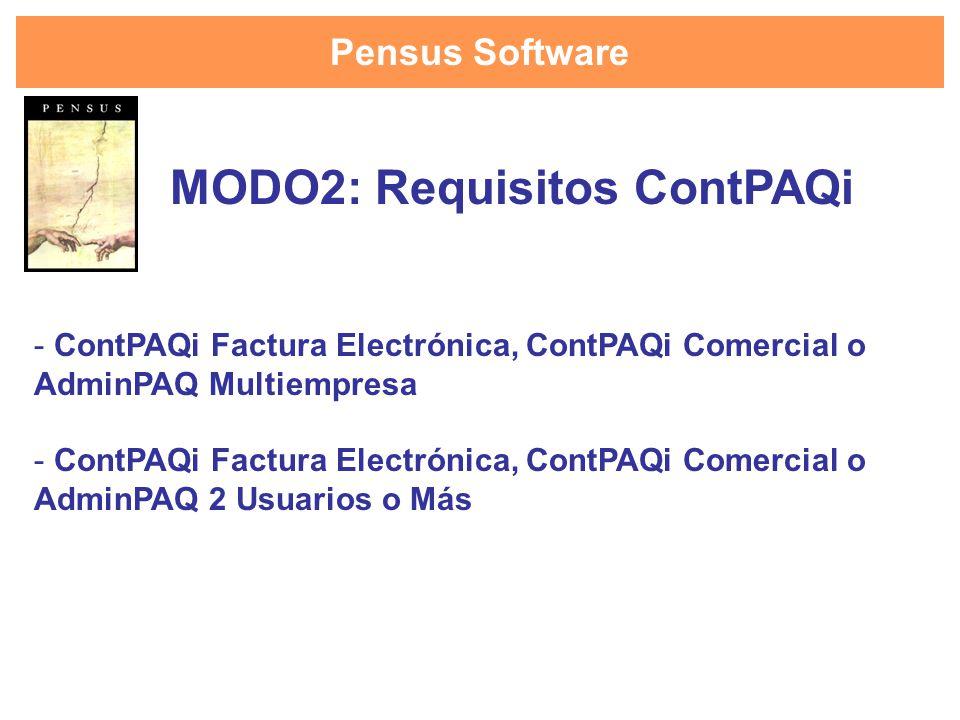 Pensus Software - ContPAQi Factura Electrónica, ContPAQi Comercial o AdminPAQ Multiempresa - ContPAQi Factura Electrónica, ContPAQi Comercial o AdminP