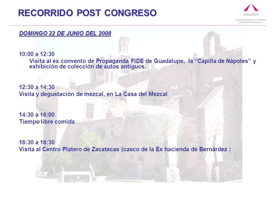 DOMINGO 22 DE JUNIO DEL 2008 10:00 a 12:30 Visita al ex convento de Propaganda FIDE de Guadalupe, la Capilla de Nápoles y exhibición de colección de autos antiguos.