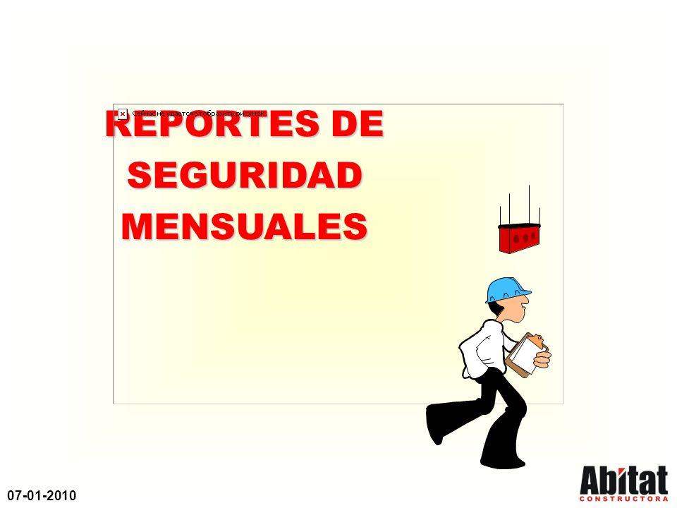 07-01-2010 PROGRAMA DE PREVENCION DE ACCIDENTES INDICADOR CLAVE Indicador Clave (BLS) Indicador BLS = No.