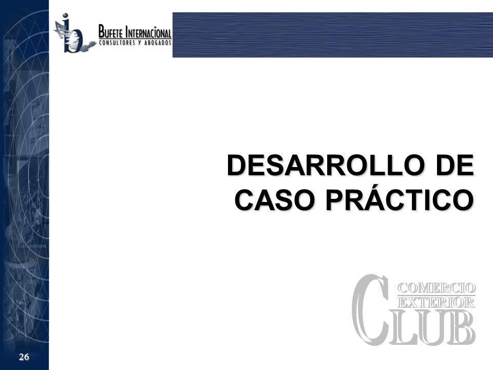 26 DESARROLLO DE CASO PRÁCTICO