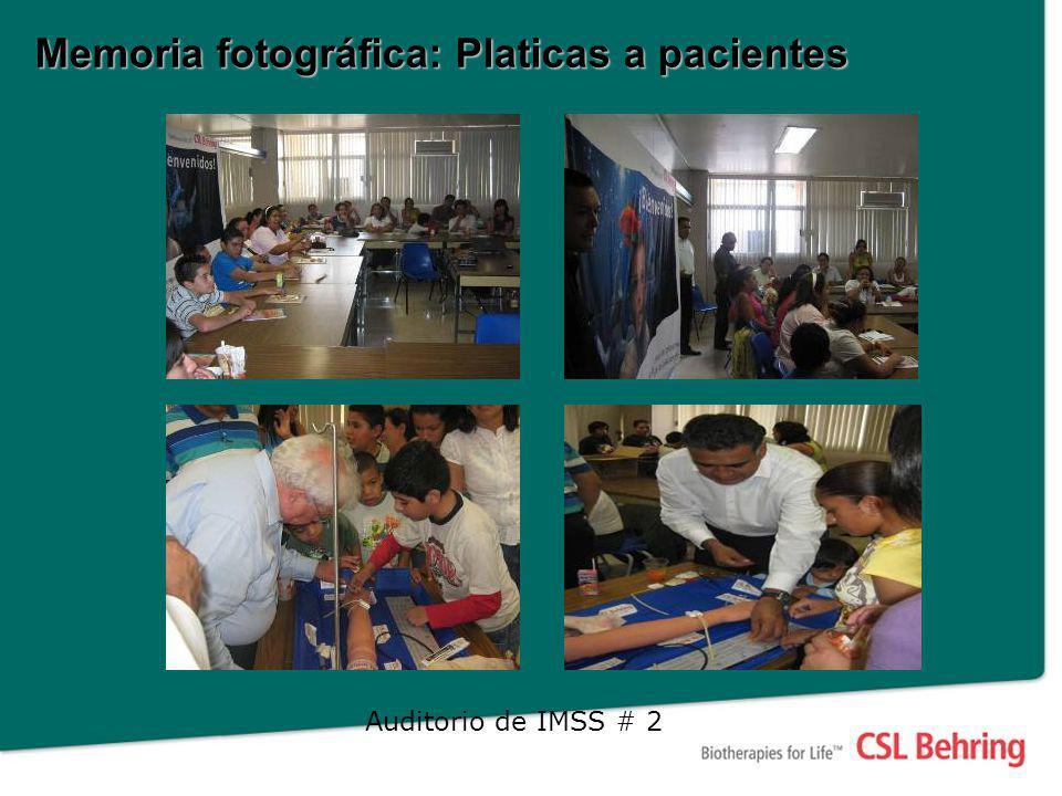 Memoria fotográfica: Platicas a pacientes Auditorio de IMSS # 2