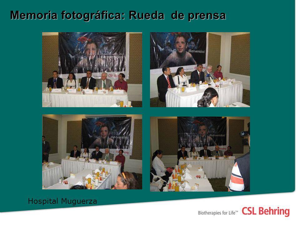Memoria fotográfica: Rueda de prensa Hospital Muguerza