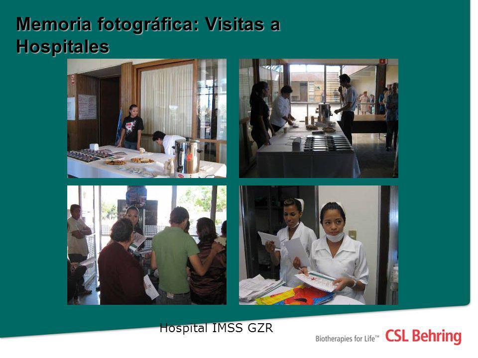 Memoria fotográfica: Visitas a hospitales Hospital Hidalgo Hospital IMSS GZR