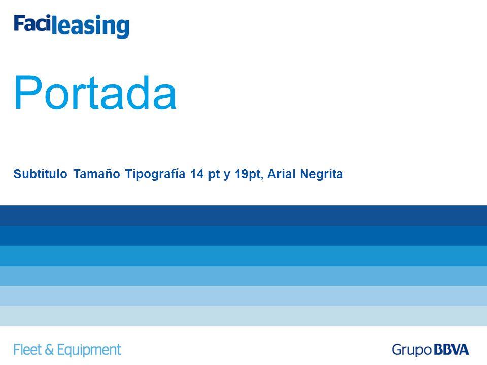 Subtitulo Tamaño Tipografía 14 pt y 19pt, Arial Negrita Portada