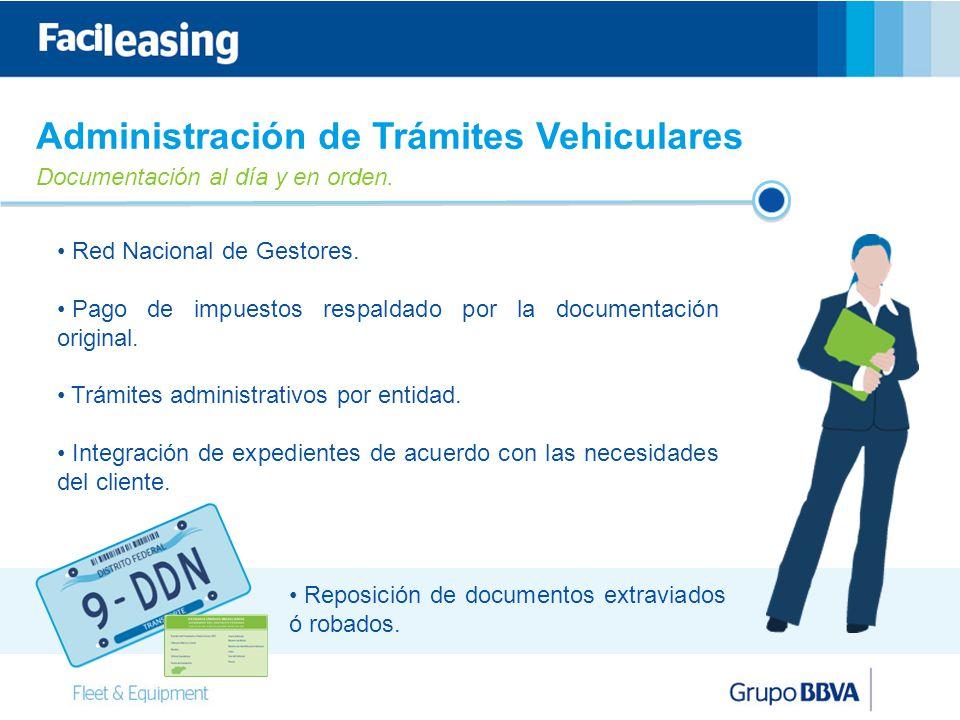 10 Administración de Trámites Vehiculares Documentación al día y en orden.